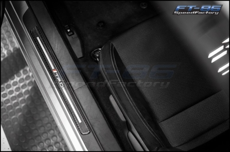JDM Station TRD Carbon Style Door Sill