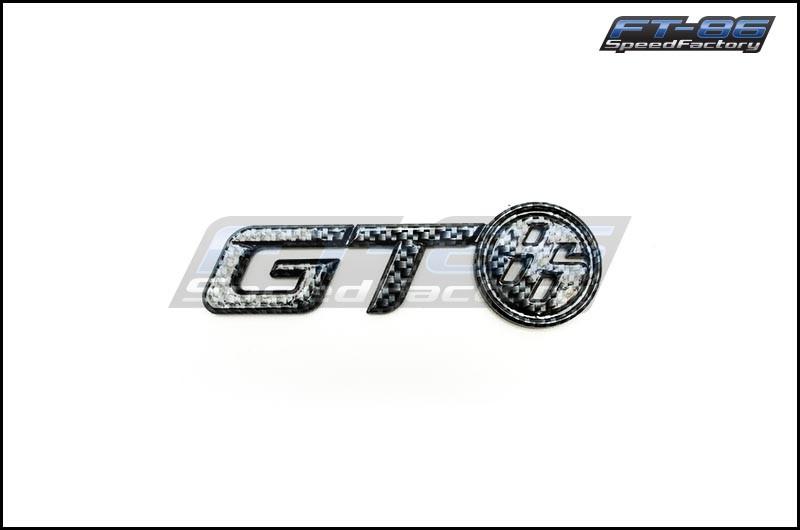 Toyota Carbon Fiber GT86 Trunk Emblem