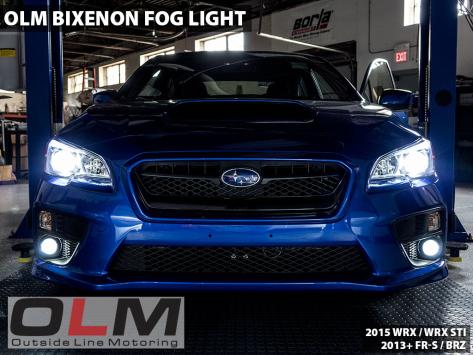 OLM Bixenon Low / High Beam Projector Fog Lights - 2015-2020 WRX & STI / 2013-2016 FR-S / BRZ / 2014+ Forester / 2013+ Crosstrek / 2017-2020 Impreza