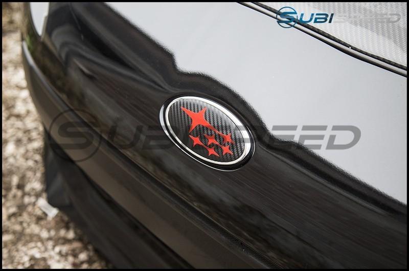 Sticker Fab Front and Rear 3D Carbon Fiber Emblem Overlays