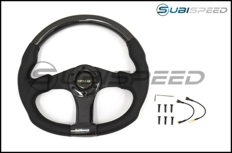 NRG 315mm Carbon Fiber Steering Wheel With Black Stitching