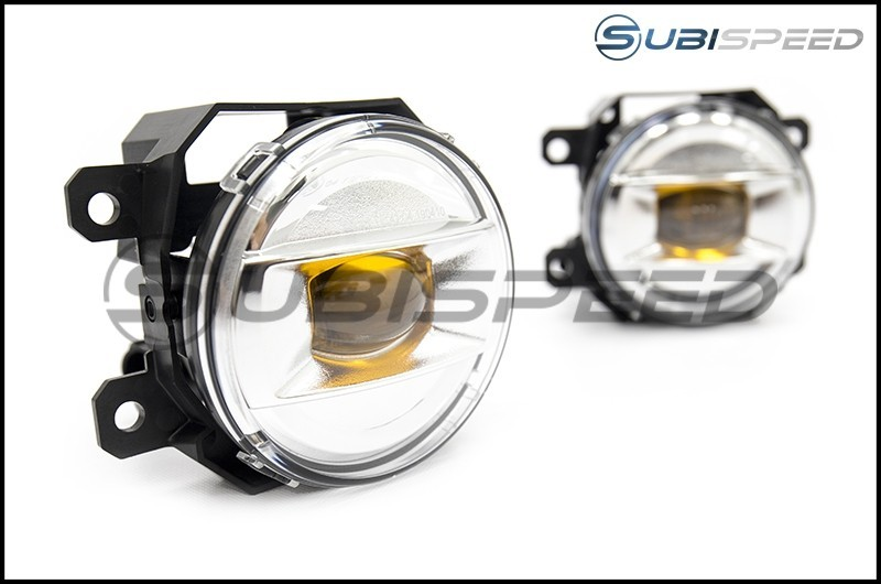 Subaru JDM Yellow LED Fog Lights - 2015+ WRX / 15-17 STI / 13-16 BRZ / 14-18 Forester / 13-17 Crosstrek / 13-16 FR-S / BRZ / 86