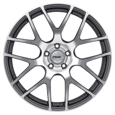 TSW Nurburgring Wheels 17x8 +35mm (Gunmetal w/ Machined Face)