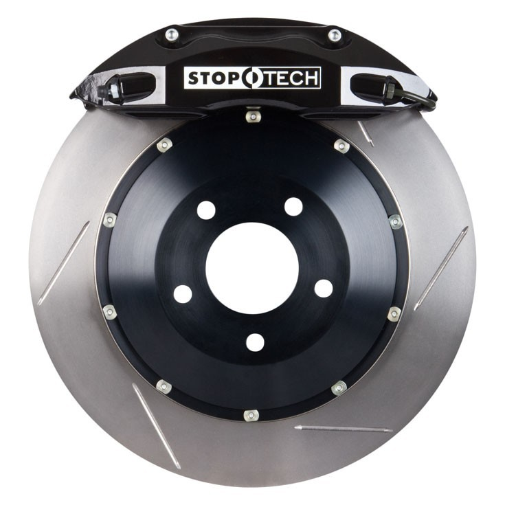 Stoptech 355x32 Big Brake Kit Slotted / Black (Front)