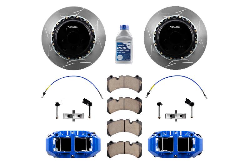 Sparta Evolution Brakes Big Brake Kit (BBK) Front - Saturn-Blue Powdercoat
