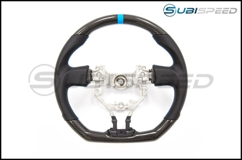 FT-86 SpeedFactory Carbon Fiber Blue Stitching Steering Wheel