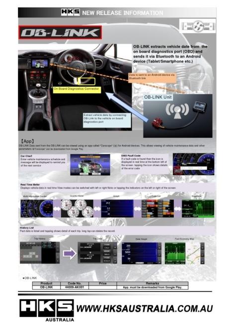 HKS OB-Link - 2013+ FR-S / BRZ / 86